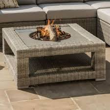 life aya fire pit coffee table in yacht