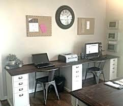 dual desk home office. Dual Desk Home Office Furniture Awesome Two Person .