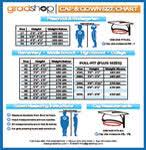 Cap And Gown Measurement Chart Size Color Charts Gradshop