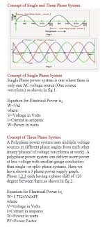 concept of single and three phase system electrical engineering world check out that cool