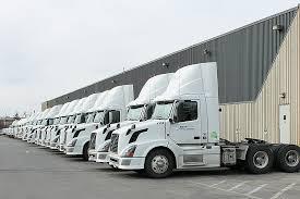 volvo trucks. volvo trucks in a row on lot
