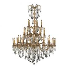 windsor collection 45 light french gold finish and clear crystal chandelier 54 d x 66