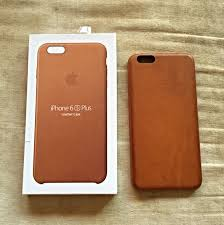 iphone 6 6s plus saddle brown apple leather case electronics on carou