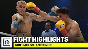 It is the fifth fight on the. Highlights Jake Paul Vs Anesongib Youtube