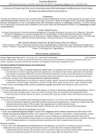 entertainment industry resume 27052017 corporate and contract law clerk resume