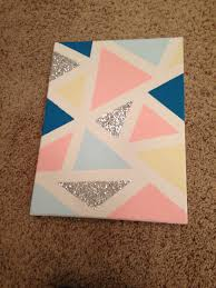 Diy Canvas Diy Canvas 1 Tape Geometric Shapes With Painters Tape 2 Paint