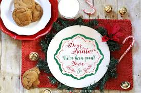 The actual design is black on a white background. Cookies For Santa Free Cut File
