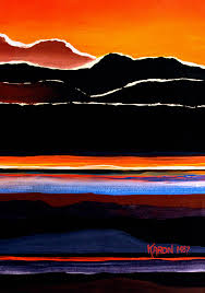 abstract mountains painting mountains abstract by karon melillo devega