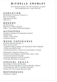 Sample Of College Resume Sample College Application Resume For High