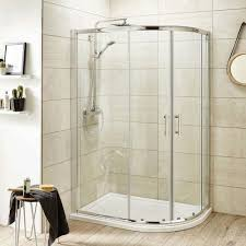 Unique Curved Shower Enclosures Uk Pacific Offset Quadrant Enclosure For Design Inspiration