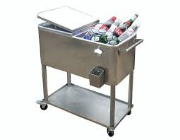 stainless steel cooler carts outdoor patio black red metal cooler cart ideas stainless steel cooler