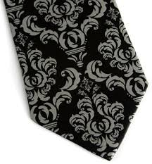 Damask Tie Cyberoptix Damask Tie Black Dove Delicious Boutique