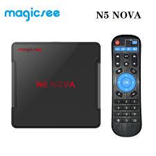 Magicsee N5 NOVA Android 9.0 TV Box RK3318 Quad Core ROM 2.4+5G Dual Wifi  Bluetooth 4.0 Smart Box 4K Set Top Box with Air Mouse Set-top Boxes