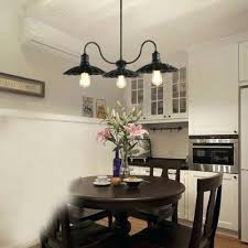 1 tier led chandelier with scalloped black shade in vintage style pendant p
