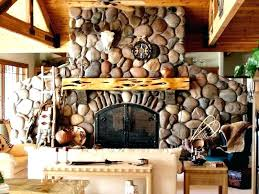 rock fireplaces creek river fireplace with above designs surround d river rock fireplace