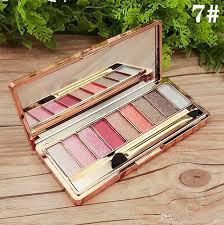 authentic color makeup wei ni xiao xiong korea eye shadow diamond bright nine color eye shadow le in the end hot dhl professional makeup kits