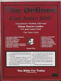 The Defined King James Bible 12 Pt Large Print Non Indexed Black Genuine Leather 1568480156 Ebay
