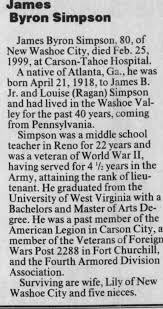 Obituary for James Byron Simpson, 1918-1999 (Aged 80) - Newspapers.com