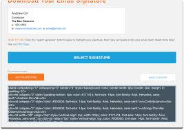 Email Signature Html How To Create A Personalized Html Email Signature The Mac Observer