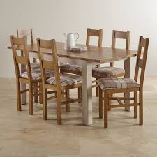 farmhouse dining table and 6 chairs. custom delivery kemble rustic solid oak and painted 4ft 7\ farmhouse dining table 6 chairs h