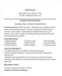 Auto Service Manager Resumes Automotive Finance Manager Resume Dew Drops