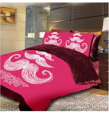 Charming Mustache Designer Bed Sets Twin Queen King Size Duvet Cover Duvet Cover  Fitted Sheet Sets Hot