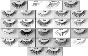 Fake Eyelash Size Chart Fake Eyelashes False Eyelashes Hand Tied Feathered Invisible