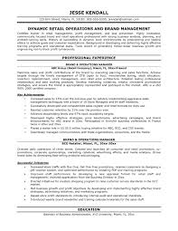 Business Operations Manager Resume Document Sample New Operations