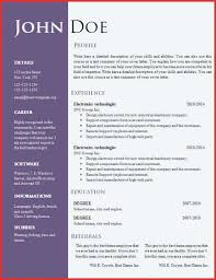 Modern Resume Examples Magnificent Sample Resume Templates Word Best Of Free Creative Template To Dot