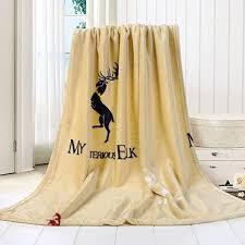 Corsion Super soft warm print wool European blanket ... - Amazon.com