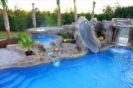 backyard pool with slides. To Install A Swimming Pool Slide Design Rhraclinfo This With And Waterfall  Would Look Amazing In Backyard Slides S