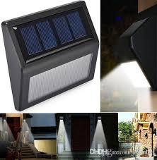 2019 outdoor wall lamps solar lights ip55 solar powered auto sensor light for modern fixture hallway garden stair fence wall step lighting from angelila