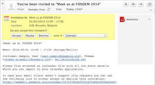 Handle Event Invitations Kolab Groupware Documentation