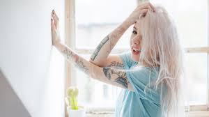обои женщины модель длинные волосы белые волосы фотография