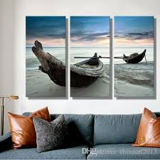 2018 oil painting canvas beach landscape boat wall art decoration home decor on canvas modern wall picture for living room from chinaart2013  on boat wall art with 2018 oil painting canvas beach landscape boat wall art decoration