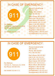 emergency contact template family emergency contact cards template formal word templates