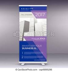 banner design template purple standee roll up banner design template eps vectors search