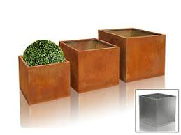 rust planter box.  Planter Image Is Loading CortenSteelCubePlanterRustSquareMetalGarden Throughout Rust Planter Box H