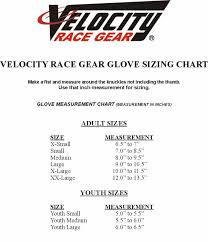 Shift Size Chart Velocity Shift Glove 60819 109