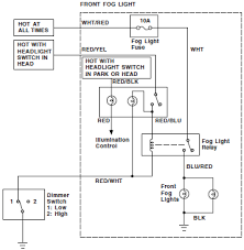 2005 honda civic hybrid fog light wiring circuit schematic diagram