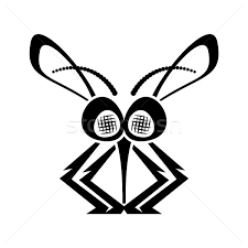 black funny mosquito silhouette icon stock photo blumer1979