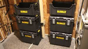 dewalt tough system van. utilizing dewalt\u0027s wall racking system with the toughsystem products allows a user to store them in vertical manner that grab any one of dewalt tough van