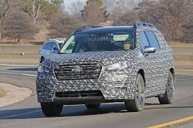 2018 subaru ascent interior. modren ascent 2018 subaru ascent 3row crossover suv spied in detail intended subaru ascent interior