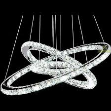 modern led ring chandelier round crystal pendant ceiling lighting fixture