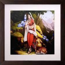 32+] Modern Art Radha Krishna Painting ...