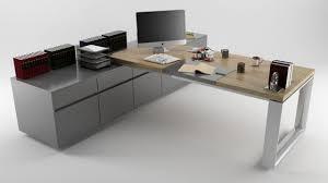high office desk. Office Desk High Quality 3d Model Low-poly Max Obj 3ds Fbx Mtl 1