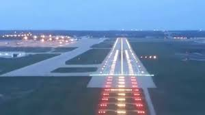 final approach and landing runway 07 krfd full runway approach light system 720p you