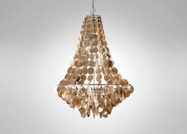 lighting brown capiz chandelier chrome finish for interesting