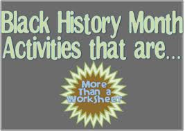black history month - More Than a Worksheet
