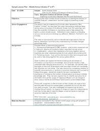 Middle School Lesson Plan Templates Example Lesson Plan Template